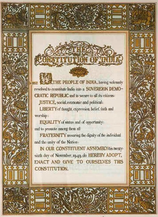 Constitution of India - First Page