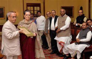 Sonia Gandhi & President Pranab Mukherji